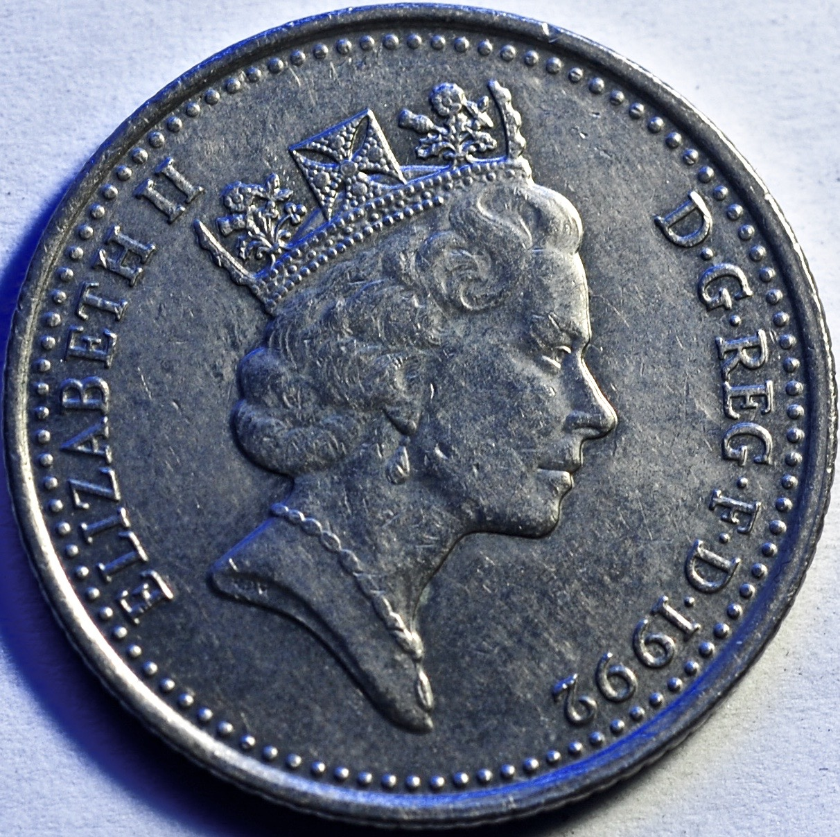 piece elizabeth ten pence 1992